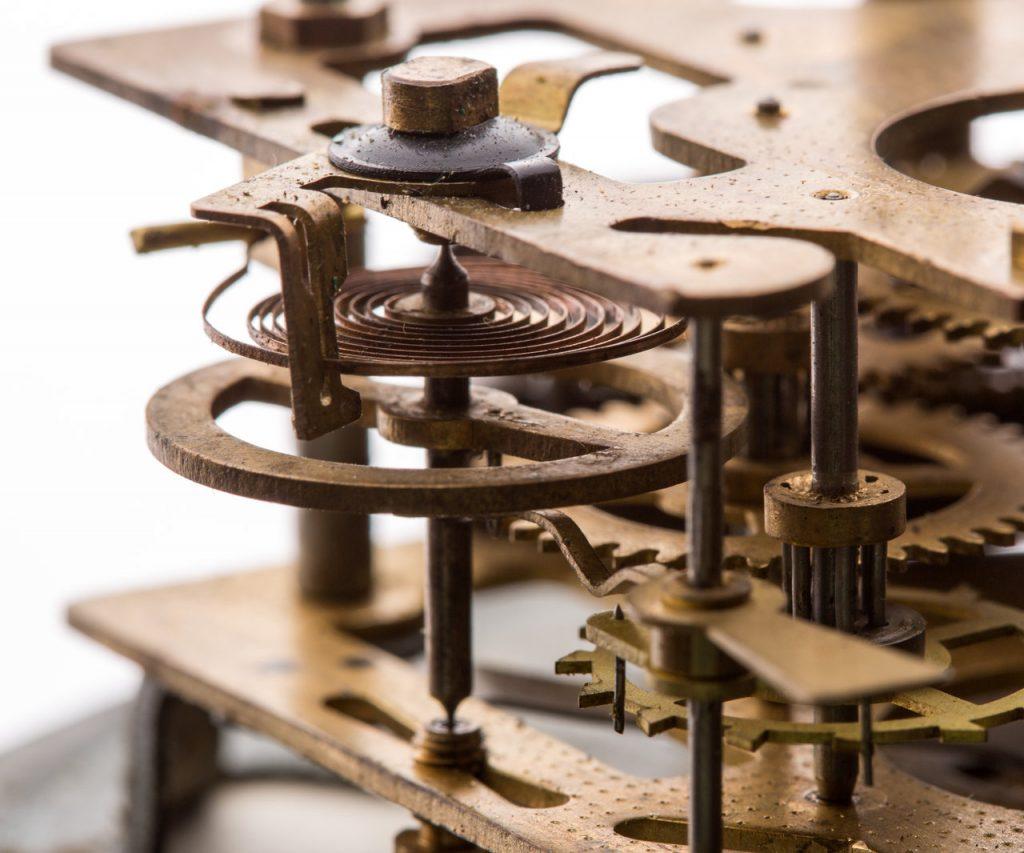 Stary mechanizm zegarka